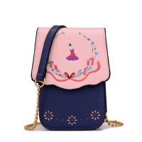 韩版迷你小包 镂空斜跨包甜美手机包链条单肩包女潮