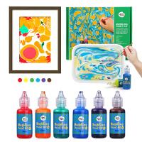 美乐 儿童颜料画画涂鸦水拓画套装浮水画水影画工具材料