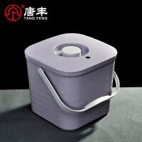 唐丰茶桶茶渣桶带盖废水桶茶水桶功夫茶叶桶排水桶接垃圾桶茶具桶