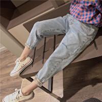 女童牛仔裤儿童直筒休闲裤中大童春秋时髦裤子