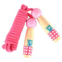 儿童跳绳小学生单幼儿园男女孩初学体育可调节木质跳绳