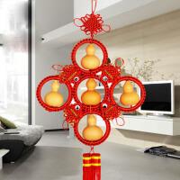 五福临门葫芦中国结挂件风水家饰品