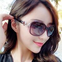墨镜女潮明星款太阳镜女新款防紫外线风圆脸个性2018眼镜