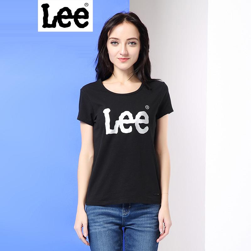 Lee女装商场同款2017春夏新品时尚印花情侣短袖T恤女L19192K99K11