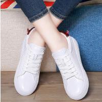 百年纪念小白鞋女春季新款百搭韩版运动休闲女鞋中跟圆头板鞋1629