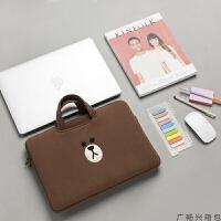 苹果笔记本电脑包macbook air13.3寸14pro1315.6内胆包手提包女士