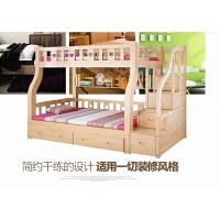 【品牌热卖】广西南宁高底床上下床架床松木床南宁柳州玉林松木床 上1米下1.2米(直梯) 其他 更多组合形式