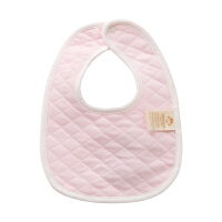 【3件3折后3.9】新生婴儿宝宝围嘴围兜加厚双层夹棉纯棉宝宝口水巾按扣新生儿围兜