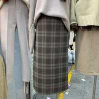 春秋新款格子长裙2021韩国东大门百搭韩版气质显瘦中长款半身裙女