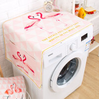 北欧ins粉火烈鸟滚筒洗衣机罩冰箱罩晒布盖布床头柜巾