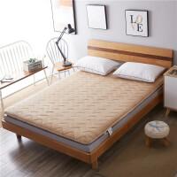 家纺2017秋冬加厚法莱绒床垫床褥榻榻米垫被学生宿舍单人双人1.5m 1.8米床褥子