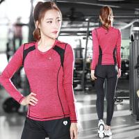新款瑜伽服运动套装女跑步健身房速干衣专业装备晨跑秋冬季运动服跑步服健身服