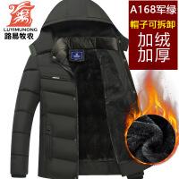 爸爸冬装反季中老年棉衣冬季男装外套加绒加厚款中年男士棉袄