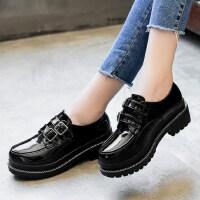 户外英伦风ins小皮鞋女鞋复古学生韩版百搭时尚单鞋子