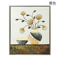 客厅装饰画沙发背景墙壁画三联现代简约卧室餐厅简欧风景花卉挂画工艺礼品 加框53*63