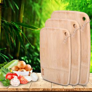 宝优妮 厨房切菜板长方型整竹砧板 小号厨台擀面板 家用切蔬菜板DQ9035-9