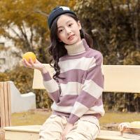 女童毛衣加绒套头高领儿童中大童秋冬装