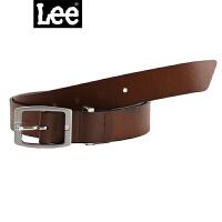 Lee新品简约褐色男士牛皮皮带L24737L01C4D褐色真皮皮带