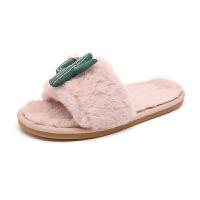 儿童棉拖鞋时尚卡通男童女童冬季毛毛拖地板鞋