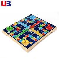 儿童益智游戏棋亲子互动玩具磁性立体飞行棋折叠棋盘