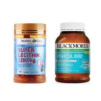 【网易考拉】【心血管健康】BLACKMORES 澳佳宝 原味深海鱼油 400粒+Healthy Care 大豆卵磷脂胶