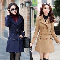 秋冬韩版软妹百搭茧型端庄大气加厚毛呢外套中长款显瘦呢子大衣女