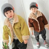 童装男童外套2017秋冬新款韩版儿童冬装条绒上衣灯芯绒加绒保暖