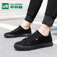 木林森木林森男鞋子新款韩版潮流板鞋男冬季纯色系带青年学生潮鞋
