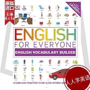 人人学英语英语词汇学习 英文原版DK-English for Everyone:English Vocabulary Builder看图学单词网上APP音频