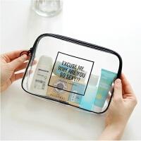 旅行透明防水洗漱包塑料洗浴袋加厚pvc大容量洗澡用品收纳游泳包旅行透明大容量塑料洗澡包