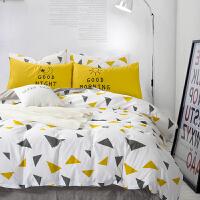 家纺北欧简约条纹床上用品全棉四件套1.5m1.8米床纯棉4件套