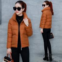 2018035639059棉衣女短款冬季新款韩版显瘦加厚小个子羽绒保暖大码棉袄 S 适合80-100斤
