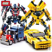 【全店支持礼品卡】古迪积木拼装变形机器人金刚汽车益智大黄蜂擎天柱6-12岁男孩玩具