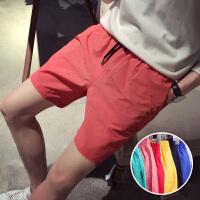 男装 夏天学生糖果色休闲运动短裤速干男士沙滩五分裤潮