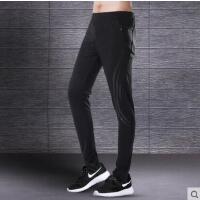 运动长裤男户外新品薄款跑步健身速干足球训练裤休闲拉链收口小脚裤子
