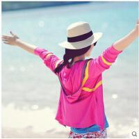 速干T恤女海滩防晒衫瑜伽服防蚊虫沙滩开衫外套长袖沙滩衣运动可礼品卡支付