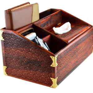 红酸枝龙纹收纳盒  30 15 14