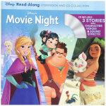 Disney's Movie Night 迪斯尼电影夜读故事书+CD 英文原版进口儿童书 3-6岁学前兴趣英语故事书