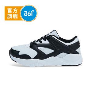 361度童鞋 男女童小白鞋2018秋季新品儿童运动鞋休闲大童跑鞋 N718803