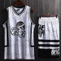 篮球服定制套装男篮球衣团购空版印号字夏季篮球服比赛球队服DIY