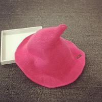 宝宝帽子儿童渔夫帽夏天针织盆帽尖尖帽男女遮阳帽可折叠小孩帽子