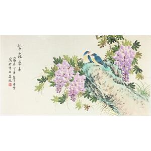 凌雪《紫气东来》著名画家