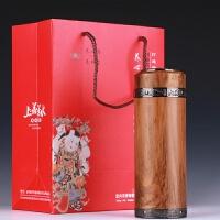 【品牌热卖】紫砂保温杯男女士茶杯水杯子办公商务礼品杯 黄木纹直杯