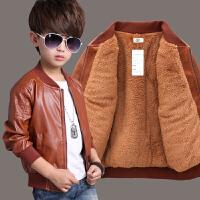 男童皮衣儿童外套宝宝冬装男孩上衣儿童装夹克
