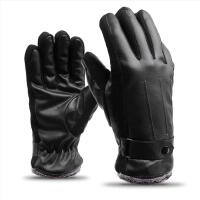 电动车手套冬季防风保暖 PU皮革 电瓶车摩托车防寒护手把套