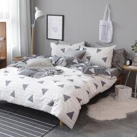 北欧简约棉四件套床上用品棉4件套 床单被套学生宿舍套件J 被套220*240 床笠180*200