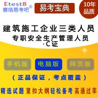 2019年建筑施工企业三类人员考试(专职安全生产管理人员・C证)易考宝典软件 (ID:1317)