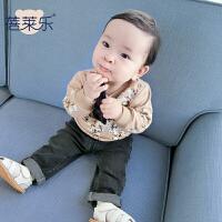 男婴儿套装春秋款女宝宝休闲衣服春秋季6个月新生儿套