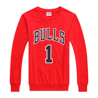 公牛队1号罗斯运动长袖T恤玫瑰篮球衣训练服运动卫衣