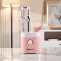 迷你空气加湿器迷你家用静音卧室办公室桌面小型矿泉水瓶加湿器 粉色 官方配置